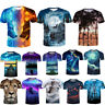 Cool Space Galaxy 3D Print Womens Mens Casual T-Shirt Short Sleeve Graphic Tee