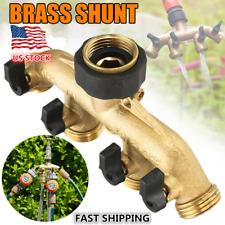 3/4'' Brass Garden 4-Way Tap Hose Connector Water Hose Pipe Splitter Irrigation