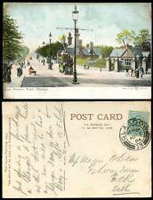 SCOTLAND 1904 PPC GLASGOW TRAM GREAT WESTERN ROAD