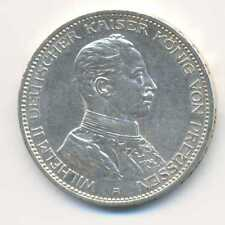 Germany German States Prussia Wilhelm II Silver 3 Mark 1914 A XF