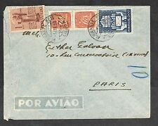 PORTUGAL 1950 AIRMAIL COVER TO FRANCE
