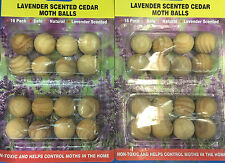 64x Wooden Moth Balls Lavender Scented Cedar Moth Ball Clothes Cupboard Protect