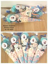 large frozen themed pre filled sweet cones kids birthday party bags
