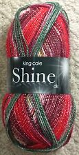 King Cole Shine DK Glitter Sparkle Double Knit Knitting Wool Yarn 100g Festive 1719