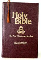 Holy Bible NKJV PRE-PUBLICATION EDITION Old Time Gospel Hour 1982 Brown Gold