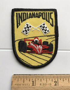 Indianapolis Indycar Indy Race Car Checkered Flags Souvenir Embroidered Patch