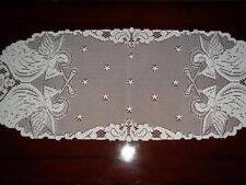LACE TABLE RUNNER IVORY ANGELS 36 X 14 ILCR351