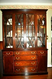 China Cabinet, mahogany, Virginia Galleries, Henkel Harris