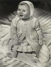 VINTAGE BABY LAYETTE / 6 to 9 months - 9 peices & shawl -  COPY knitting pattern