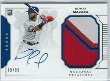* NOMAR MAZARA * 2016 NATIONAL TREASURES AUTO JERSEY PATCH RC # 99