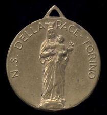 old medaglia medal anhanger medaille MARIA AUSILIATRICE S.CUORE GESU' TORINO