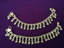 child baby silver charm bells Lot 2 anklet ankle bracelet Indian foot jewelry