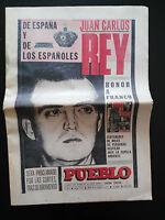 DIARIO PUEBLO JUAN CARLOS REY FRANCO HA MUERTO PERIODICO HISTORICO 1975 UNICO!!!