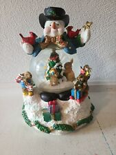 Vintage Lighted Christmas Sculpture Frosty The Snowman Warner Bros In Box