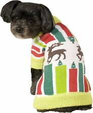 Reindeer Sweater Christmas Holiday Fancy Dress Up Halloween Pet Dog Cat Costume