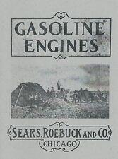 Sears Roebuck & Co. Gasoline Engine Book Motor Informational Manual