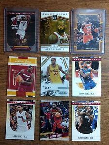 Lot of 9: Lebron James Cards, Cleveland Cavaliers, Optic, Panini, Donruss
