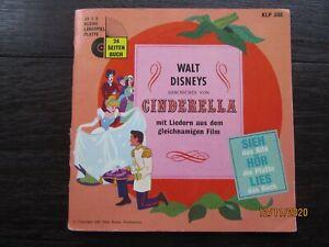 "Tonbuch + 7"" Si. – FOC mit Booklet – Walt Disney's Cinderella"