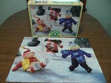 Vintage Cabbage Patch Kids CPK 35pc Floor Puzzle Winter Skating On Pond In Box