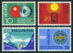 Switzerland 483-486, MNH. Mi 858-861. Events 1967. Swiss Week, For Ages, Tunnel,