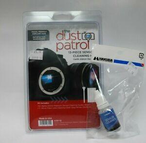 Dust Patrol Alpha Sensor Cleaning Swabs 20mm* 12x swabs* 1xcloth *1x 15ml fluid*