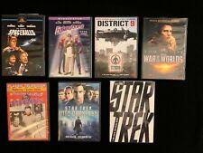 Star Trek, Star Trek 2, Galaxy Quest, Spaceballs, District 9, War of the Worlds