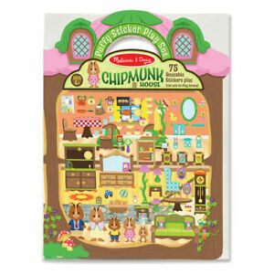 Puffy Sticker Play Set w/Fold Out Book  Chipmunk House from Melissa & Doug 9101