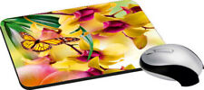 Butterfly Flowers Mouse Pad Comfort AntiSkid Mouse Pads Mats Laptop Computer PC