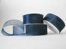 Nastro organza 40 mm rotolo bobina da 50 mt Blu fai da te - art E4014