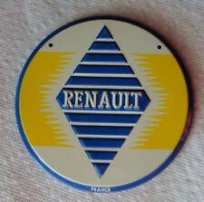 1950s Wheaties Cereal RENAULT Steel Metal Auto Car Emblem Badge Logo Premium