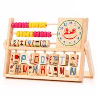 Children Baby Learning Developmental Versatile Flap Abacus Kids Wooden Toys
