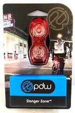 Portland Design Works Danger Zone Rear Tail Light Bike Bicycle Safety Night Road