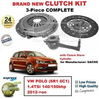 FOR VW POLO (6R1 6C1) 1.4TSi 140/150bhp 2012->on BRAND NEW 3-PC CLUTCH KIT + CSC