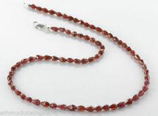 Granate Echtschmuck-Halsketten & -Anhänger mit Tropfen-Schliffform für Damen