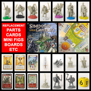 REPLACEMENT PARTS/MINI FIG/PIECES/CARDS/BOARDS - Shadows Over Camelot Board Game