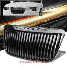 Black Vertical Style Replacement Front Grille For Chrysler 11-13 300 LD V6/V8