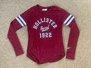 womens Hollister Top Long Sleeve USA Baseball Rugby Sport Summer Light