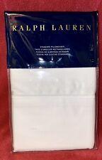 Ralph Lauren Home 624 Thread Count Langdon Deco White Set of 2 Standard Pillowc