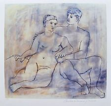 """Pablo Picasso """"THE LOVERS NUDE"""" Estate Signed Limited Edition Giclee"""