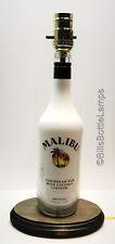 MALIBU RUM Liquor Bottle TABLE LAMP Light w/ Wood Base Bar Lounge Man Cave Decor