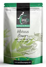 8 oz. Hibiscus Flowers Loose Leaf Herbal Tea Includes Free Tea Infuser