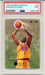 1996 Skybox Premium Shaquille O'Neal Card #163 Rare Shaq Graded MINT PSA 9