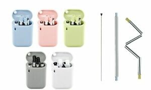 Collapsible Straw Reusable Stainless Steel, Foldable Drinking Straws Keychain