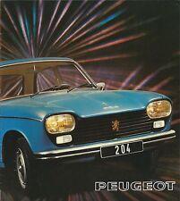 Peugeot 204 Berline Break • 1975 • Brochure Prospekt Folder • Dutch • EXCELLENT