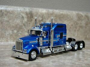 DCP 1/64 Blue Silver Kenworth Semi Truck Farm Toy
