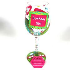 New Lolita BIRTHDAY GIRL TOO 15 oz Painted Wine Glass w/ Gift Box