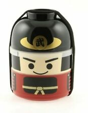 Japanese Bento Box Food Lunch Container Set 2-Tier Samurai Warrior Made in Japan