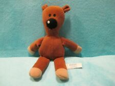 2007 Quiron Mr Bean - BROWN TEDDY BEAR - Soft Plush Stuffed Beanie Toy 10.5""