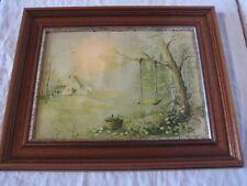 Cadre 30,5 x 24,5 cm avec Balançoire à la campagne