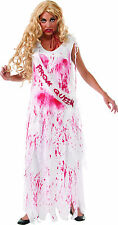 Ladies BLOODY PROM QUEEN Costume Gown Long Dress Adult Small 2 4 6 Carrie